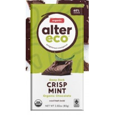 Alter Eco Organic Dark Mint Crisp Vegan Bar 80g