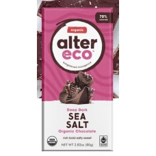 Alter Eco Organic Dark Sea Salt Bar 80g