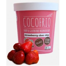 Cocofrio Strawberry Choc Chip Organic Frozen Dessert 500ml(Buy In-Store ,or Buy On-Line and Collect from our Store - NO DELIVERY SERVICE FOR THIS ITEM)