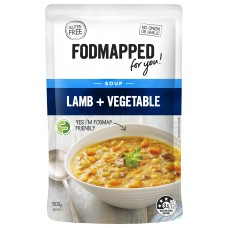 Fodmapped Lamb and Vegetable Soup 500g
