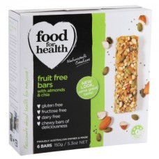 Food for Health Chia & Almond Fruit Free Bars 150g