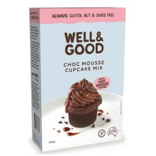 Well & Good Chocolate Mousse Cupcake Mix with Choc Mousse Topping 450g