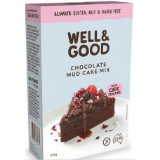 Well & Good Chocolate Mud Cake with Choc Frosting 475g