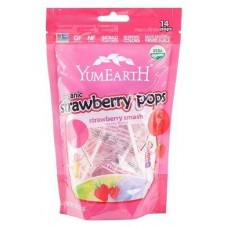 Yum Earth Organic Strawberry Lollypops 85g